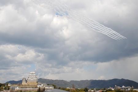 城上空を通過して岐阜へ帰投