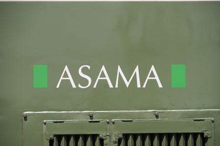 N102編成の「ASAMA」ロゴ