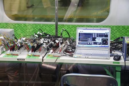 計測中のデータをノートPCに表示