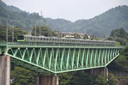 12:21 試9511M E235系トウ01編成 @ 鳥沢〜猿橋