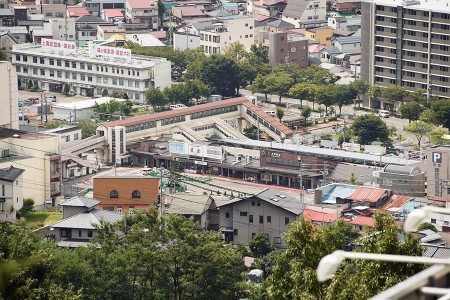 立石公園から見る上諏訪駅