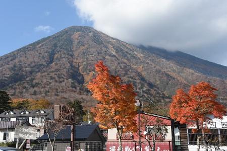 男体山と紅葉