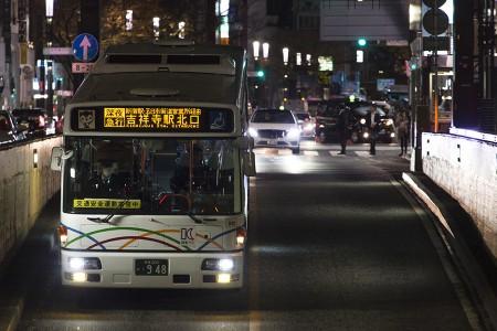 00:33 深夜急行吉祥寺駅北口行き B5003号車 KL-UA452PAN @ 銀座~四谷三丁目