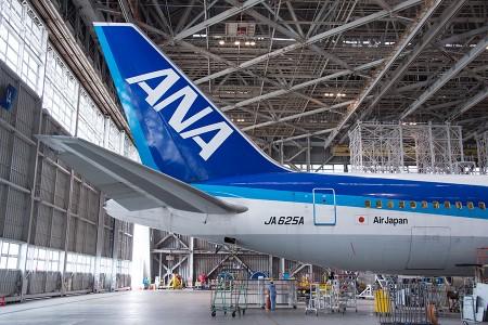 JA625Aの尾翼