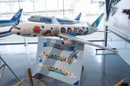 ANA 60周年の特別塗装機 (JA8674) の模型
