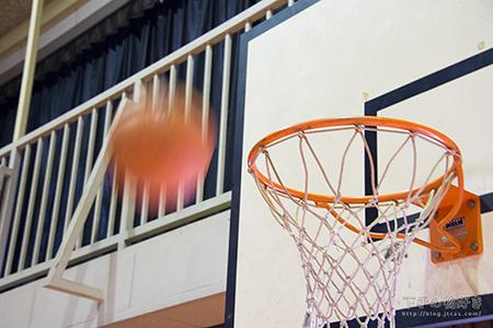 ゴールにボールを投げる